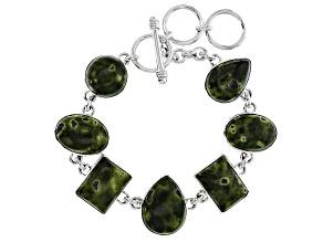 Green Tasmanian Serpentine Sterling Silver Bracelet