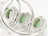 Green Serbian Opal Sterling Silver Ring