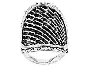 Sterling Silver Saddle Shape Ring