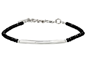Black Spinel Sterling Silver Bracelet