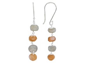 Multi-Moonstone Sterling Silver Earrings