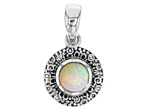 Ethiopian Opal Sterling Silver Pendant .68ct