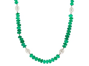 Green Onyx Silver Necklace