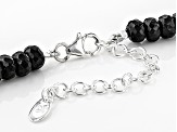 Black Spinel Sterling Silver Necklace 151.00ctw