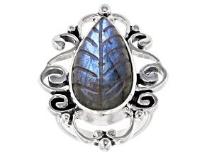 Multicolor Labradorite Sterling Silver Ring