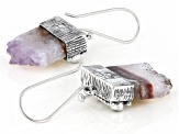 Multicolor Amethyst Stalactite Silver Earrings 0.24ctw