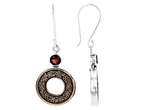 Sterling Silver Coin Earrings 1.62ctw