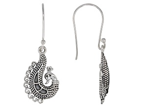Sterling Silver Peacock Dangle Earrings