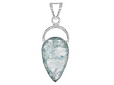 Aquamarine Rough Sterling Silver Pendant