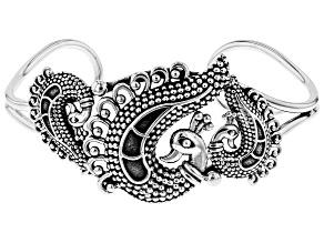 Sterling Silver Peacock Cuff Bracelet
