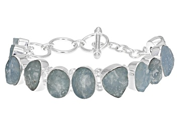 Picture of Aquamarine Rough Sterling Silver Bracelet