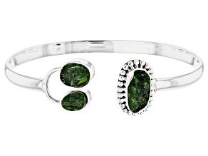 Green Chrome Diopside Silver Bracelet