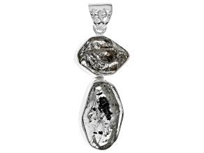 White Quartz Silver Pendant