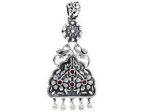 Red Indian Ruby Silver Pendant 0.76ctw