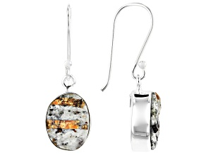 Multicolor Astrophyllite Silver Earrings