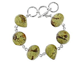 Green Opal Silver Bracelet