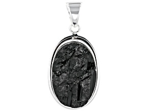 Black Tourmaline Sterling Silver Pendant