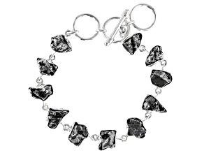 Meteorite Nugget Sterling Silver Bracelet