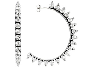 Artisan Collection Of India™ Sterling Silver J-Hoop Earrings