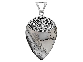 Dendritic Opal Sterling Silver Pendant