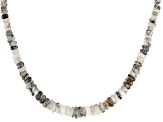 Dendretic Opal Sterling Silver Bead Strand Necklace