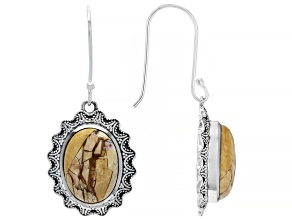Brecciated Mookaite Sterling Silver Earrings