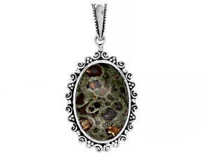 Rainforest Jasper Sterling Silver Pendant