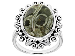 Rainforest Jasper Sterling Silver Ring