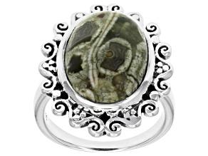 Rainforest Jasper Sterling Silver Ring