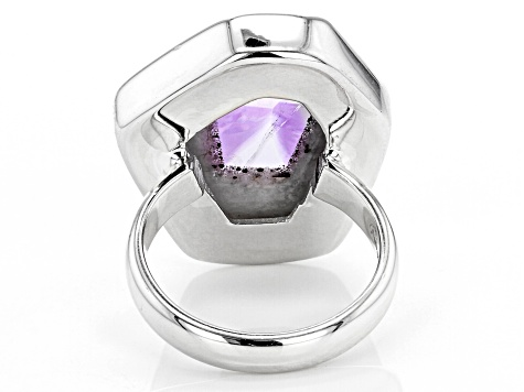 Chevron Lace Amethyst Sterling Silver Ring