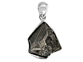 Meteorite Rough Sterling Silver Pendant