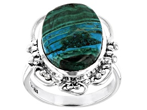 Malachite and Chrysocolla Sterling Silver Ring