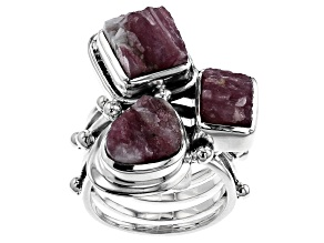 Pink Tourmaline In Quartz Sterling Silver Ring