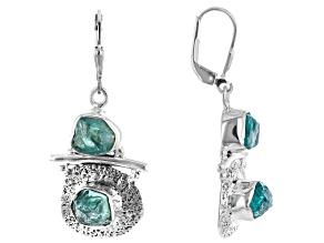 Blue Apatite Sterling Silver  Earrings