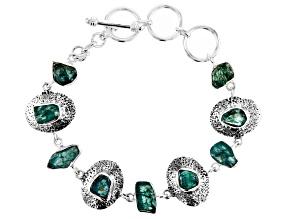 Blue Apatite Sterling Silver Bracelet