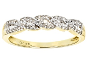 White Diamond Ring 10k Yellow Gold .20ctw