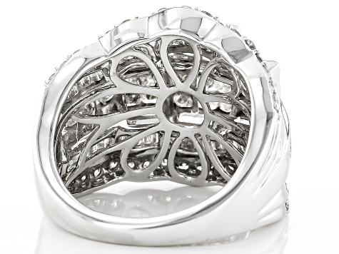 White Diamond Ring 10k Whtie Gold 3.00ctw