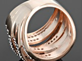 Diamond 14k Rose Gold Over Sterling Silver Ring 1.00ctw