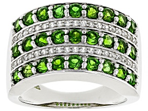 Green Chrome Diopside Sterling Silver Ring1.98ctw