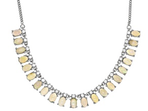 Ethiopian Opal Sterling Silver Necklace 7.28ctw