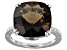 Brown Smoky Quartz Sterling Silver Ring 7.55ct