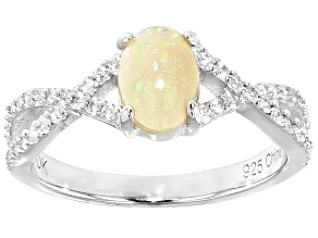 Multi Color Ethiopian Opal Sterling Silver Ring .59ctw