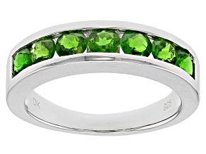 Green Russian Chrome Diopside Sterling Silver Band Ring 1.19ctw