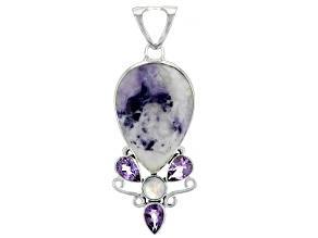 Morado Opal Sterling Silver Pendant 3.75ctw