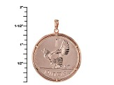 Irish One Penny Coin Rose Tone Silver Pendant And Chain