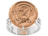 Irish Half Penny Coin Sterling Silver Ring