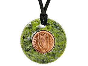 Green Connemara Marble Leather Cord Necklace