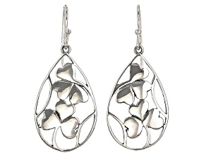 Silver Shamrock Design Sterling Silver Earrings