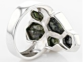 Green C\Connemara Marble Sterling Silver Ring