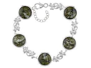Green Connemara Marble Sterling Silver Bracelet